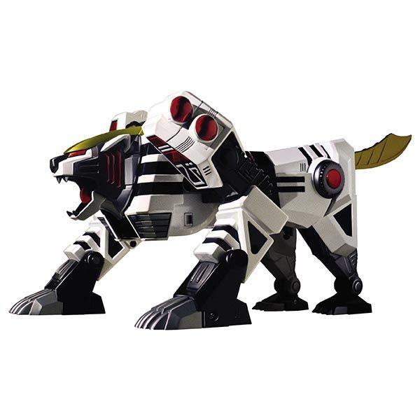 DX  Legacy White Tigerzord - Bandai - Retrouvez le Megazord Tigre blanc original de la première série Power Rangers – Mighty Morphin – tel qu'il a été commercialisé lors de son premier lancement en 1993/1994. Pourvu de certaines pièces en métal, le zord Tigre se transforme en un robot de 26 cm équipé de son épée. #PowerRangers #Jouet #Enfants #Bandai #Megazord