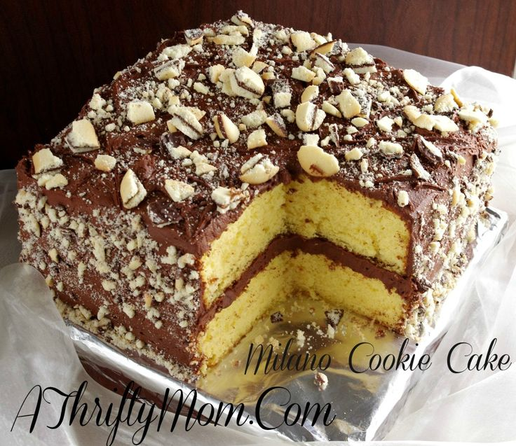 Milano Cookie Cake Recipe, Money Saving Recipe, Pepperidge Farm Milano Cookie Cake, Cake Recipes