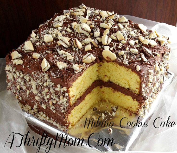 Milano Cookie Cake Recipe, Money Saving Recipe, Pepperidge Farm Milano Cookie Cake, Cake Recipes