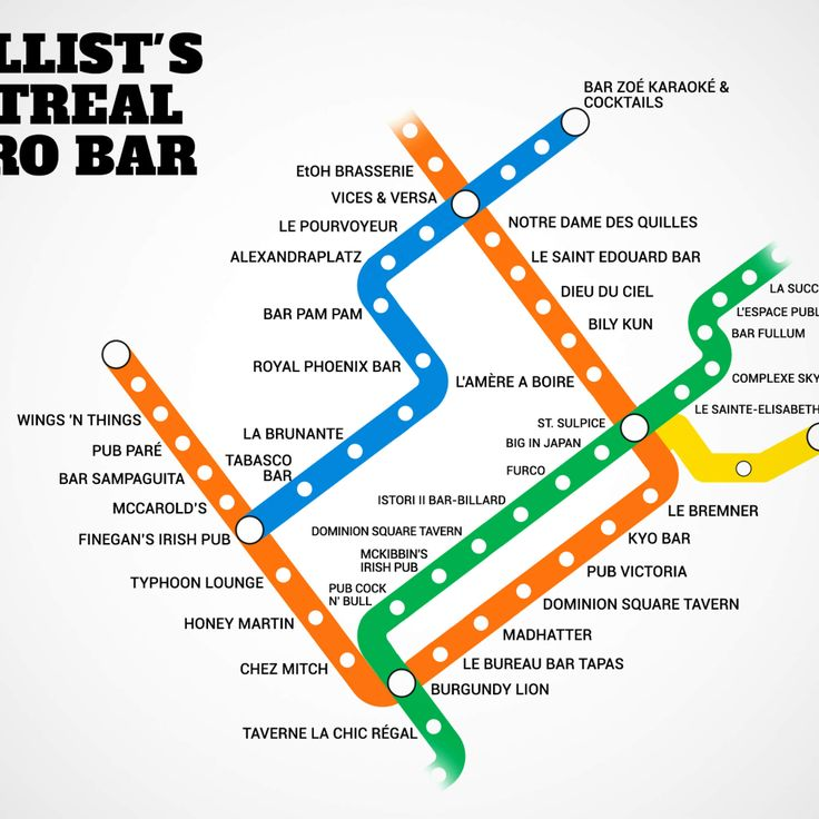 Introducing Montreal's first Metro bar map