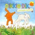 Dikkie Dik; lentekriebels van Jet Boeke. In de lente krijgt Dikkie Dik de renkriebels, wil hij een vogelnestje bekijken, paaseitjes uitbroeden en speelt hij met een lammetje. Vierkant prentenboek met vier verhalen over Dikkie Dik, met grote, eenvoudige tekeningen in kleur. Vanaf ca. 2 jaar.