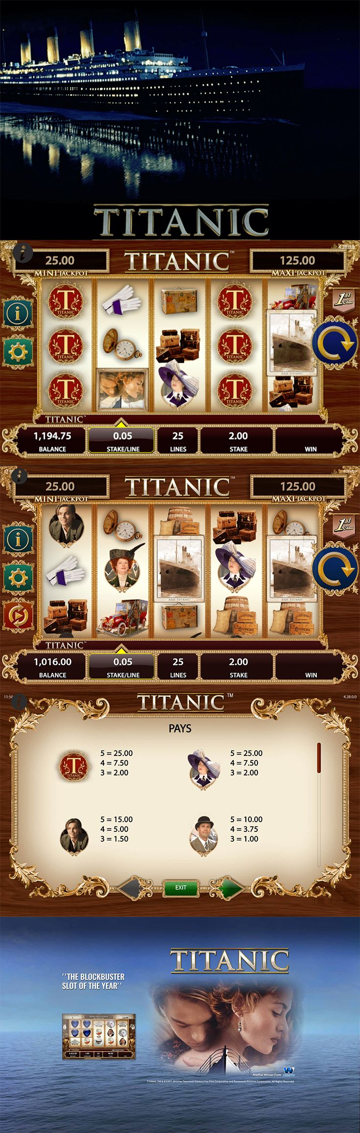 Relive the most popular movie of all time by playing the Titanic online slot for free at The SpinRoom.  --  #FreeSlot #OnlineSlot #OnlineCasino