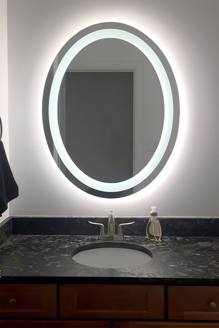 Front Lighted Led Bathroom Vanity Mirror 24 Wide X 32 Tall