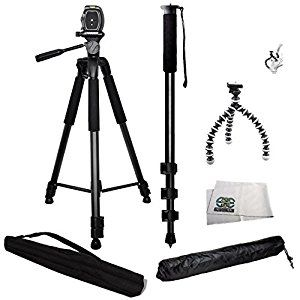 Amazon.com : 3 Piece Best Value Tripod Package for the Nikon D3000, D3100, D3200, D3300, D5000, D5100, D5200, D5300, D5500, D7000, D7100, D7200, D40, D50, D60, D70, D80, D90, D600, D610, D700, D750, D800, D800E, D810, D810A, D4, D4s & COOLPIX L840, L830, L820, L810, P600, P610, P900, P530, P520, P510, P500, L310, L120, 1 S1, S2, J1, J2, J3, J4, V1, V2, V3, AW1, P7700, P7100, P7000, P100, L110, L100, P90 & P80 - Kit Includes 1 Professional 75 Inch Tripod with Carrying Case, 1 Professio...