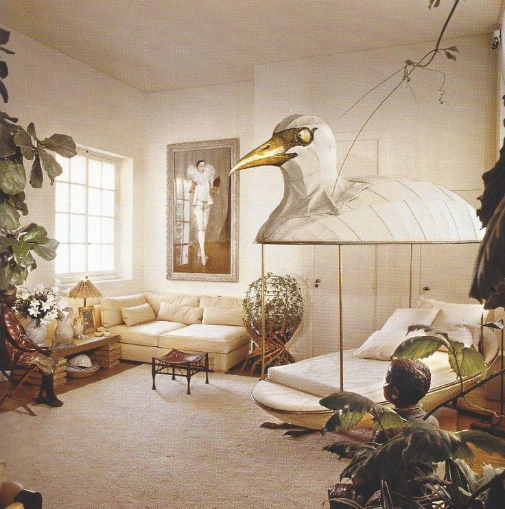 Jacques Grange's apartment in Paris, 1975.