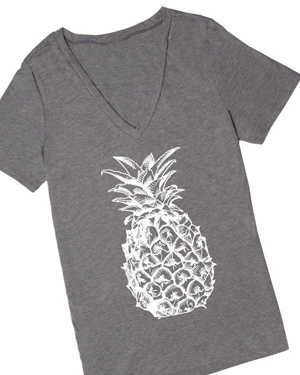 This cute women's graphic tee will be the *pine*apple of your eye before you know it! Pineapple print is a huge trend this season and at Cents of Style we are behind it 100%! Snag this adorable pineap