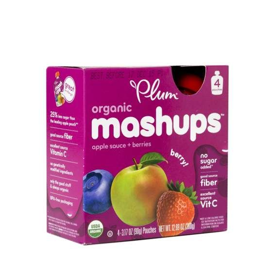 Mixed Berry Organic Fruit Mashups by Plum Organics - Thrive Market
