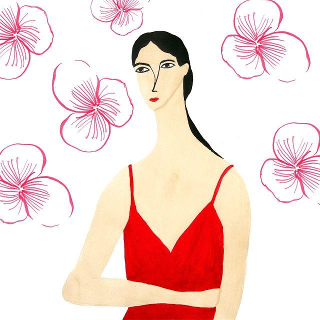 Aisyah Amiru | an illustrated diary: 100 Girls Painting Series: Girl no. 41