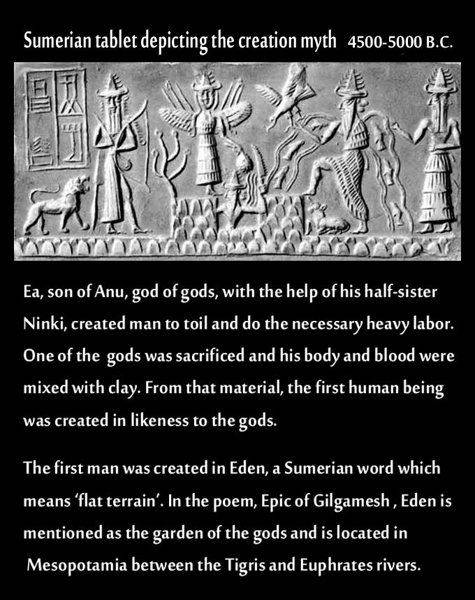 a description of a glimpse of humanity reaching back to the ancient sumerians The following quotes from the bible, early church fathers, and the ancient history books of the jews, give us a glimpse of what pre-flood paganism actually was.