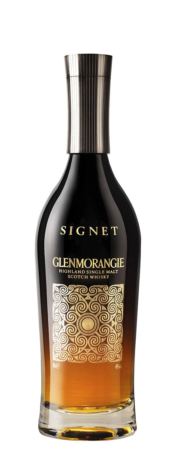 Glenmorangie Signet Highland Single Malt Whisky.  Signet is distilled from malt with a good portion of chocolate malt too.  Chocolate malt is heavily roasted malted barley.  Retails for around US$180 to US$200 a bottle.