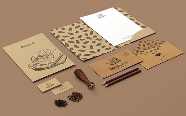 'Masterkraft South' branding by Alexander Zhestkov, via Behance