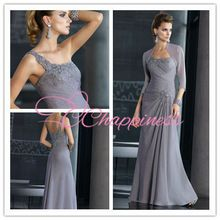 Wholesale tall plus size One shoulder lace appliqued mother of the bride dress with jacket Best Buy follow this link http://shopingayo.space