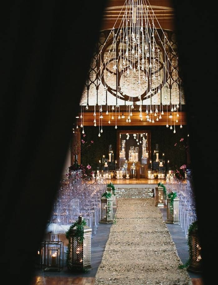We just want a peek at this stunning loft wedding ceremony! Just a peek. Photo: Aaron Young via Green Wedding Shoes
