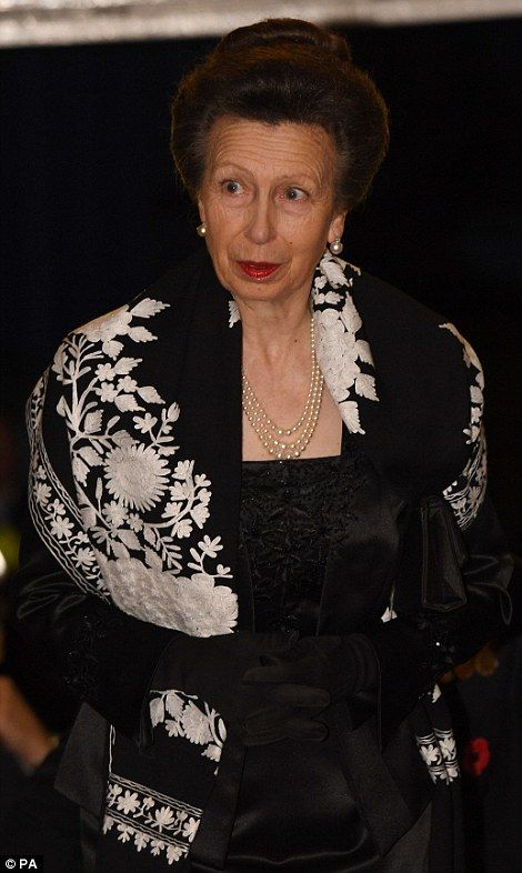 The Princess Royal arrives at the annual Royal Festival of Remembrance...