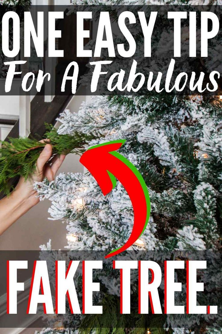 Best Christmas Tree Hack To Spruce Up Your Tree Fake Christmas Trees Cool Christmas Trees Diy Christmas Tree Ornaments