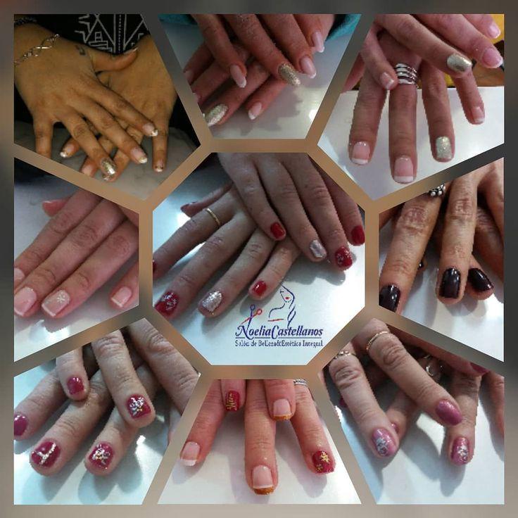 Alguna de las uñas de nuestras clientas!!!nos encantan!! #noeliacastellanos #belleza #esmalte #decoracionnavideña #nailart #instanails #uñas #nails #nailart #permanentes #nailpolish #esmaltes #esmalte #mani #manicure #francesita #sinfiltro #nail #meencanta #bellezas #gel