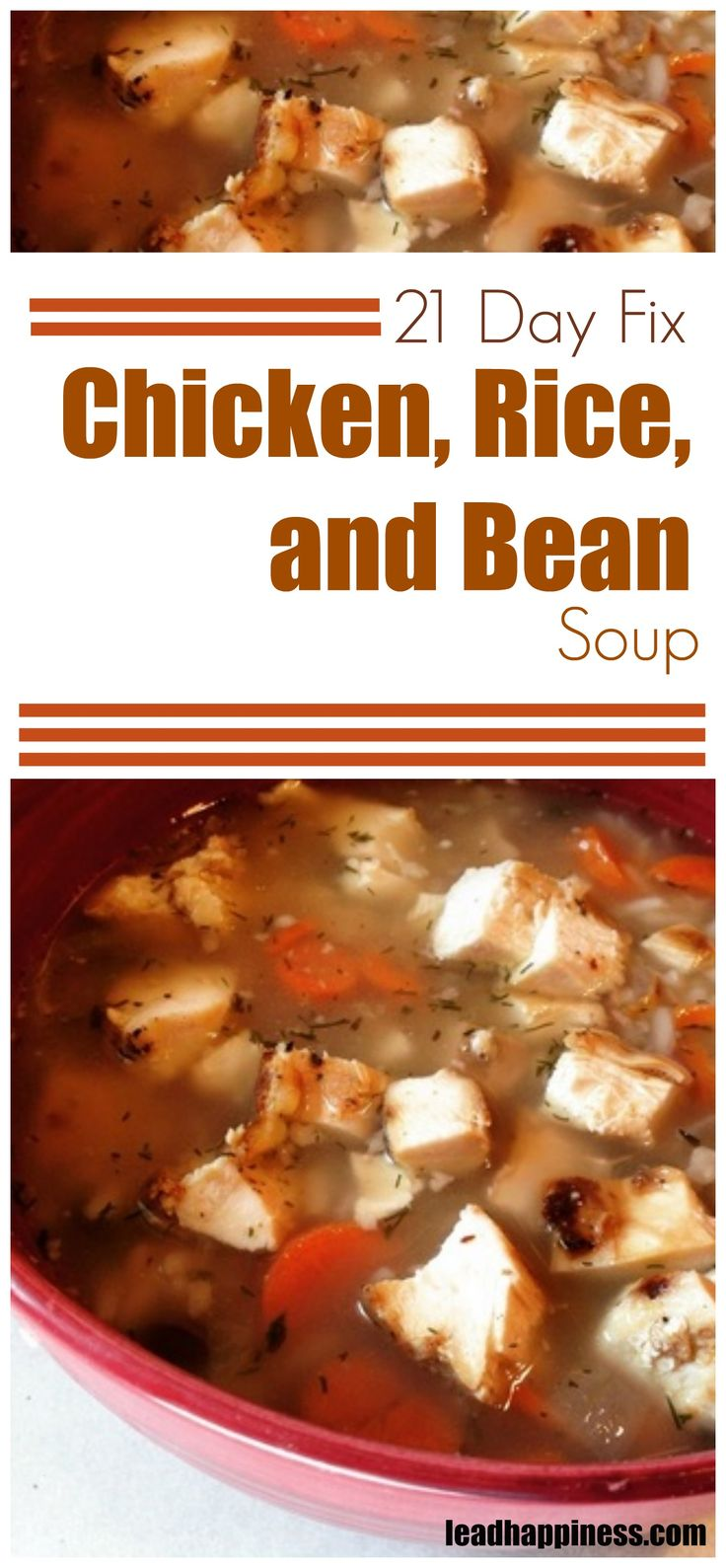 21 Day Fix Chicken, Rice, and Bean Soup #21dayfixsoup #21dayfix #21dayfixrecipes #21dayfixsouprecipe #cleaneating #cleaneatingsoup