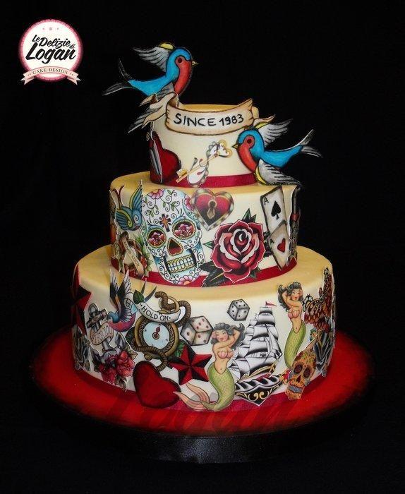 Torta tattoo old school - Cake by mariella