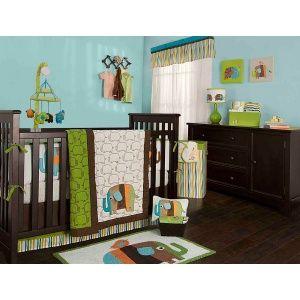 The elephant crib bedding collection features a reversible cotton f...Crib Bedding, Boys Nurseries, Zutano Elephant, Cribs Beds, Baby Boys, Baby Room, Elephant Nurseries, Beds Sets, Baby Cribs