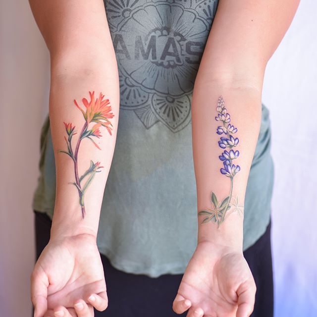 I Like The Indian Paintbrush Paintbrush Tattoo Tattoos