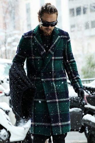 Mesh Tartan Long Coat