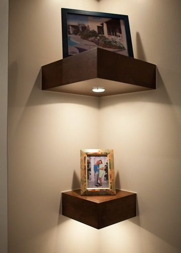 Modern Greyrock Corner Wall Shelves - denver - by HighCraft Builders