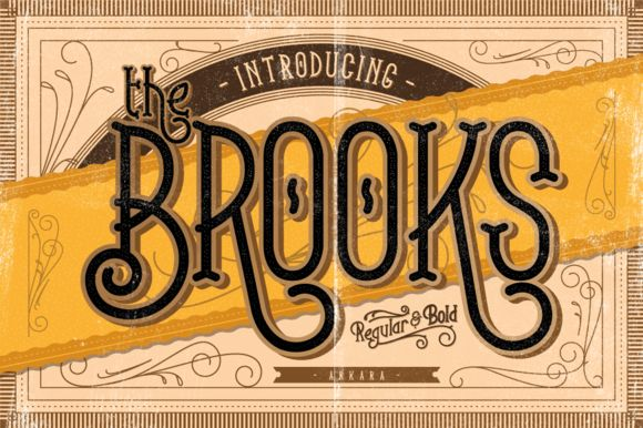 Introducing classic display typeface, The Brooks. Inspiring from vintage poster and display sign. You can use this font for various purposes.such as letterhead, logo, poster title, badge,book cover, etc.