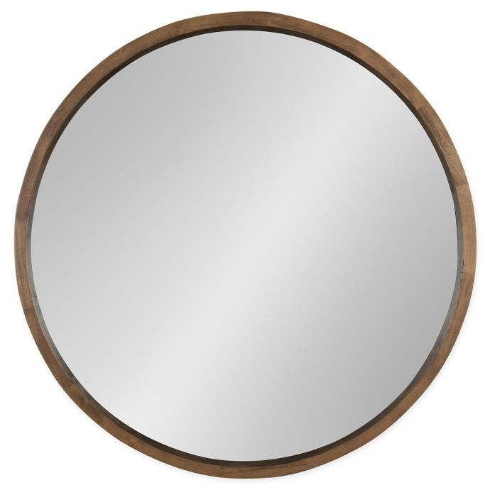 Kate And Laurel Hutton 30 Inch Round Wall Mirror Bed Bath