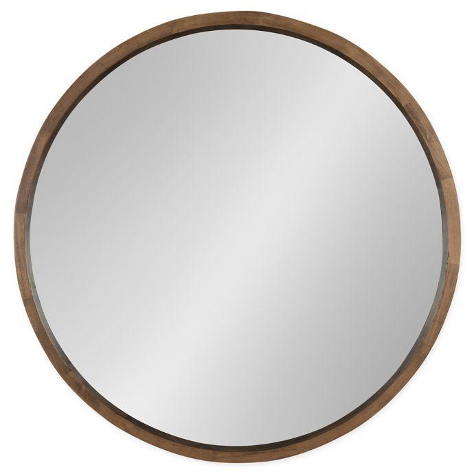Kate And Laurel Hutton 30 Inch Round Wall Mirror Bed Bath Beyond Round Wood Mirror Wooden Mirror Frame Mirror Wall 30 inch round mirror