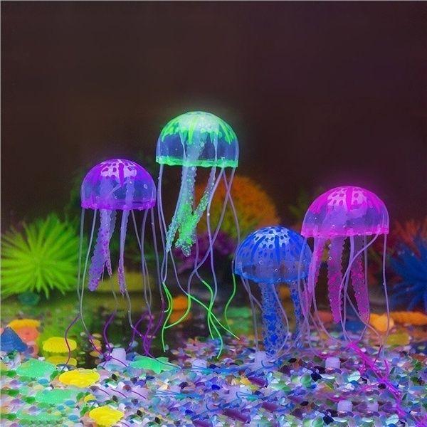 4pcs Glowing Jellyfish For Aquarium Fish Tank Cool Fish Tanks