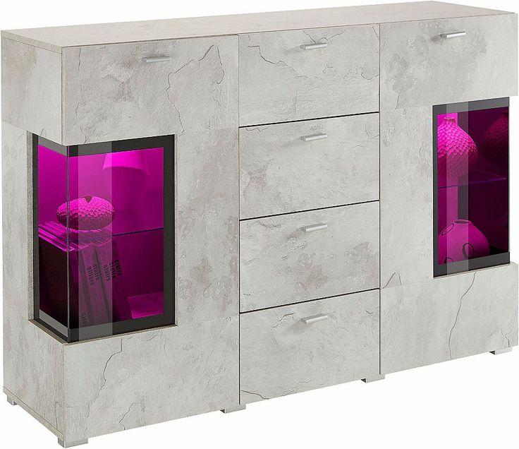 Sideboard, Breite 132 cm mit Türen mit Glaseinsatz Jetzt bestellen unter: https://moebel.ladendirekt.de/wohnzimmer/schraenke/sideboards/?uid=4bb56d76-72f9-56e2-966e-33a7bafb53ca&utm_source=pinterest&utm_medium=pin&utm_campaign=boards #schraenke #wohnzimmer #sideboards