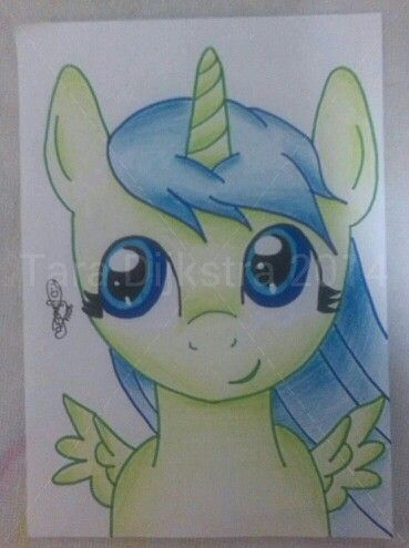Blue green unicorn pegasus pony, for my lovely little cousin Elisabelle, because she said I could draw pony' s beautiful. By Tara Dijkstra. Please don't share without crediting me!