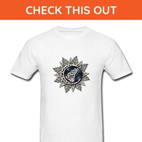 Wolf Emblem Cool Printed Graphic Cotton Men T Shirt Size XL White - Animal shirts (*Amazon Partner-Link)