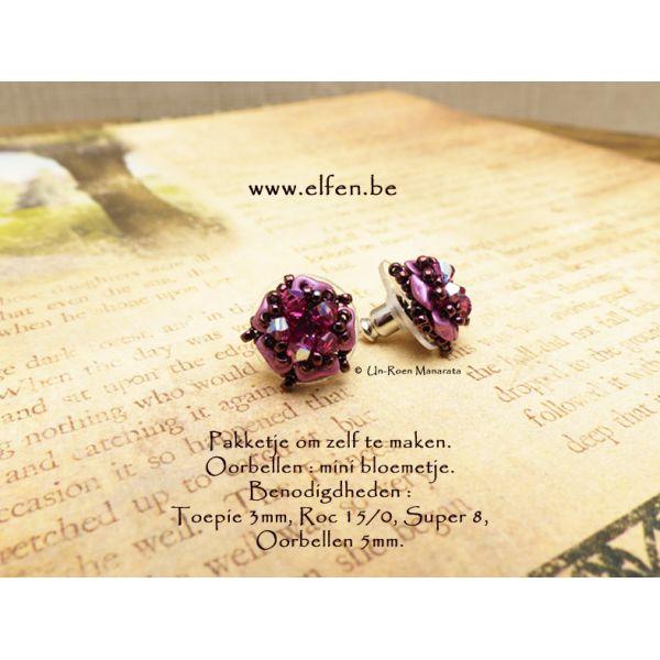 Pakket : mini bloemetje oorbellen