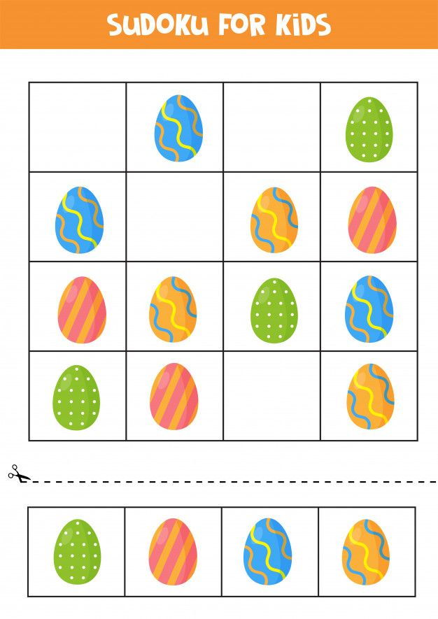 sudoku für kinder mit ostereiern logikpuzzle für kinder