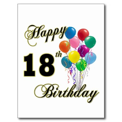 8 best msladyo images on pinterest birthday messages happy happy 18th birthday gifts postcard bookmarktalkfo Choice Image
