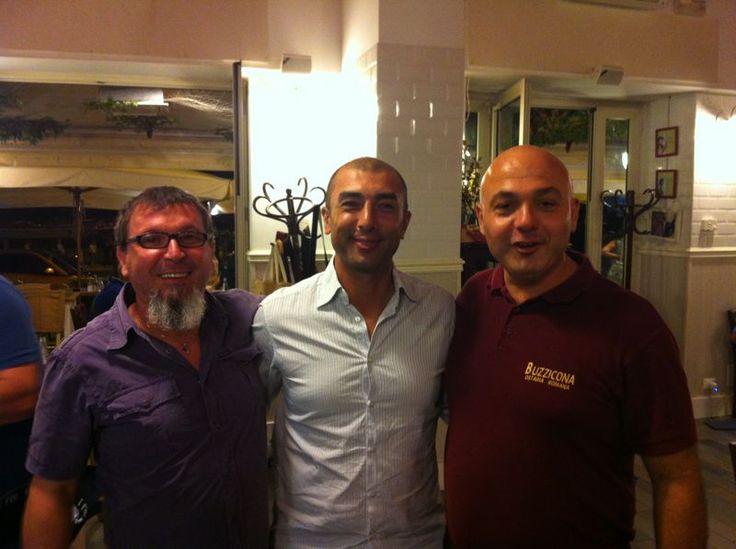 Il guru della Buzzicona (Fabio) insieme al guru del calcio europeo(Roberto Di Matteo)