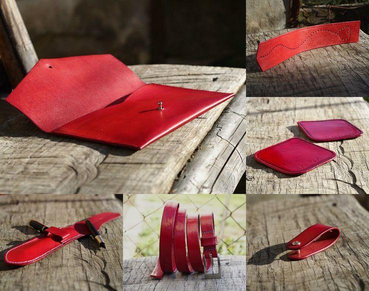 Valentýnská edice 2: pouzdro na pero, opasek, podtácky a klíčenky