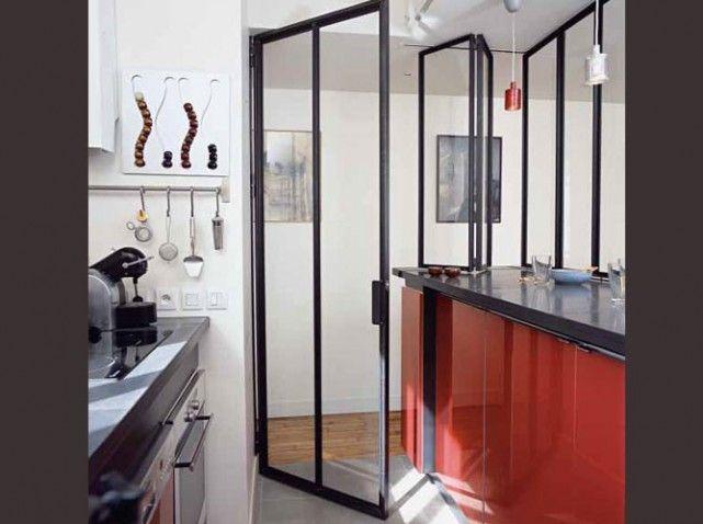 porte vitree cuisine ouverte
