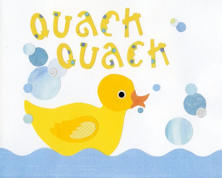 Rubber Duck Bath Decor Ducky Wall Art Kids Bath By LuminaGallery