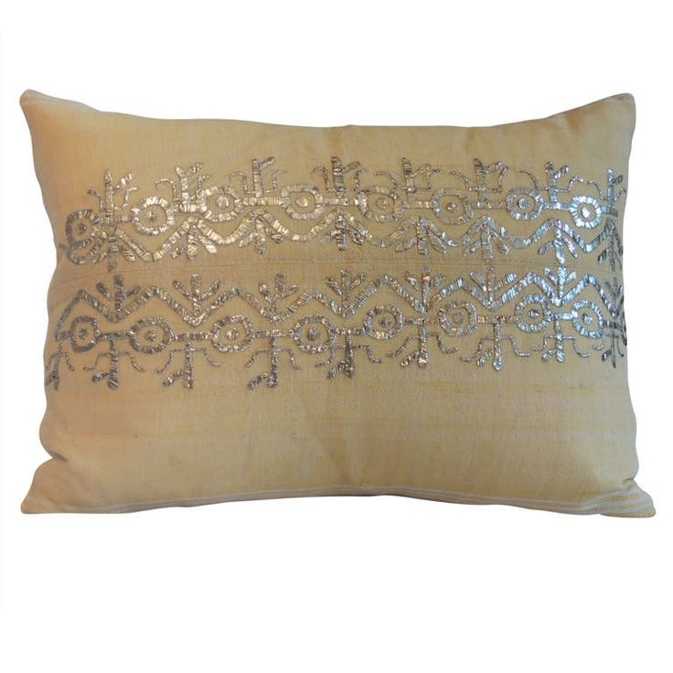 1stdibs.com | 19th Century Turkish Embroidery Pillow.