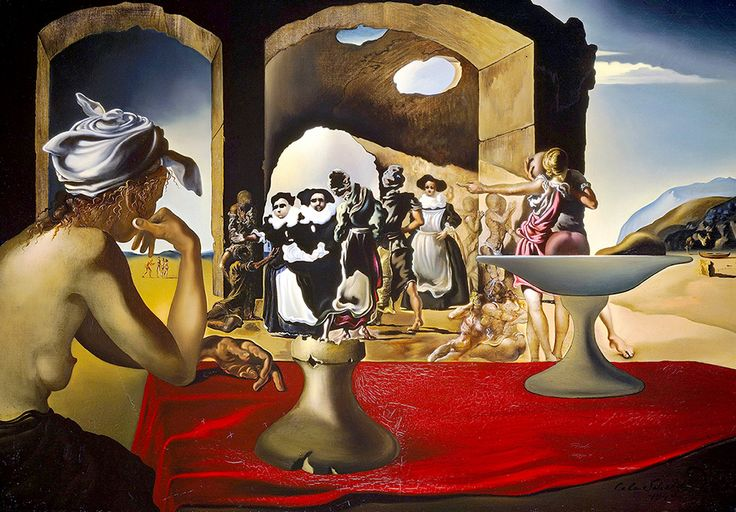 "Dali Salvador Slave Market With Miracle Of Invisible Bust Of Voltaire 02 1940 Museums Florida (from <a href=""http://www.oldpainters.org/picture.php?/32743/category/338"">serra</a>)"