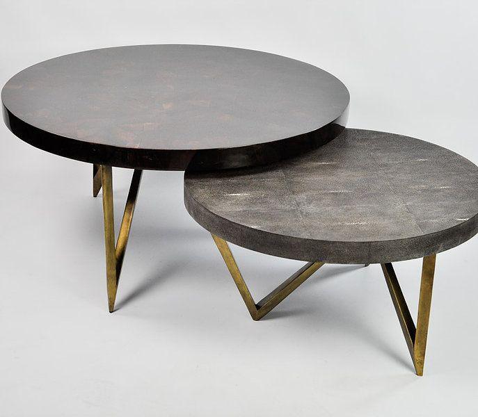 ginger brown france galuchat shagreen furniture coffee. Black Bedroom Furniture Sets. Home Design Ideas