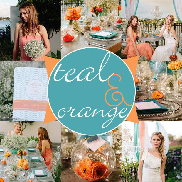 21 Best Images About Teal Blue & Orange Wedding Ideas