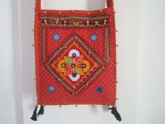 Ethnic Indian bag shoulder bag decorated with by elephantsofindia