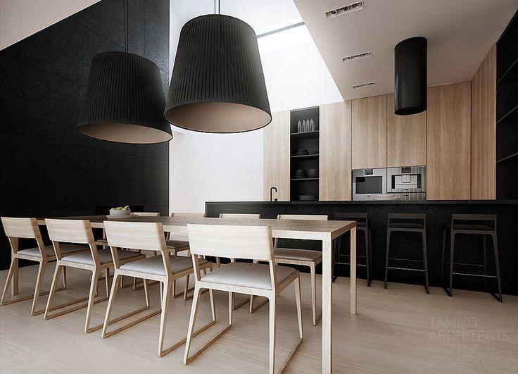 Projekt wnętrz domu jednorodzinnego pk-house, łubki | Tamizo Architects