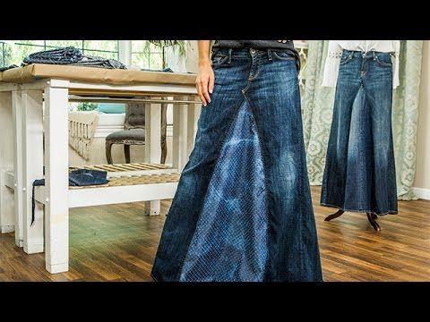 DIY - Orly Shani's DIY Maxi Jean Skirt - Hallmark Channel - YouTube - ***** Video only.