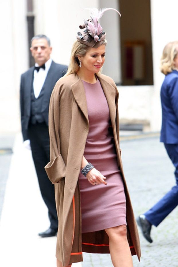 Dutch Queen Maxima arrives at Palazzo Chigi during a meeting with Italian Prime Minister Enrico Letta on 23.01.14 in Rome, Italy.