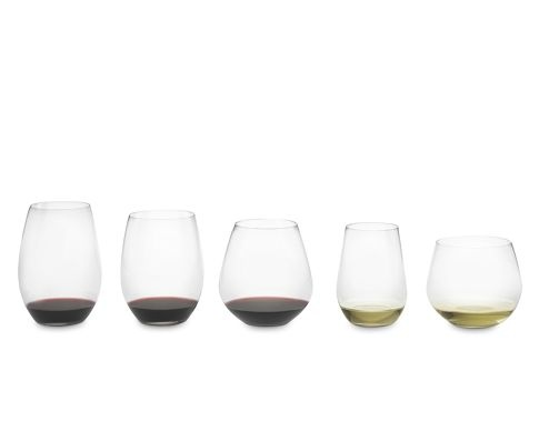 """Fantastic deal on Riedel """"O"""" glasses!  $49.95 for the set of six.  They are normally $25 for two!  Love that they are etched on the bottom with the names of each wine best suited for each glass."""