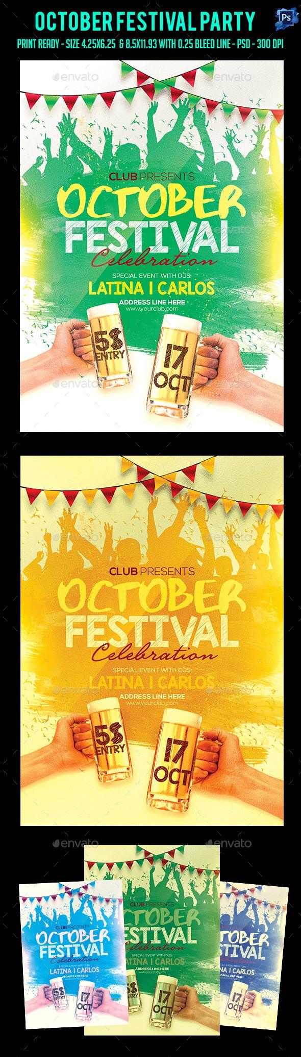 October Festival Party Flyer Template PSD. Download here: https://graphicriver.net/item/october-festival-party-flyer-/17447291?ref=ksioks